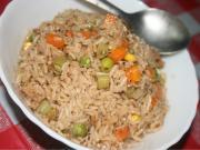 Microwaved Spicy Vegetable Rice
