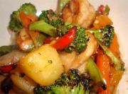Chicken-Shrimp Stir Fry with Vegetables