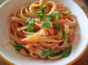 Fettuccine With Sun Dried Tomato Cream