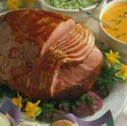 glazed ham is a traditional Easter dish
