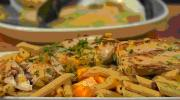 Easy and Simple Bahama Penne and Seared Mahi-Mahi
