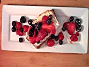 Ricotta Pound Cake with 4-Berry Topping