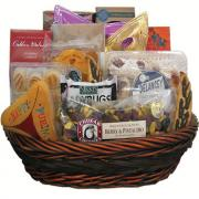 Purim gift with candies, chocolates and other edibles