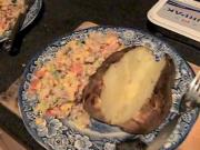 Zuza zak's Weeknight Dinners: Tuna Salad and Baked Jacket Potato