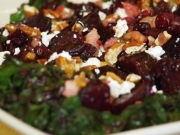 Smoked Beet Salad with Goat Cheese and Balsamic Vinaigrette