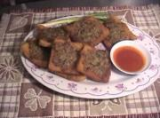 Thai Deep Fried Bread with Pork