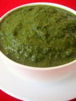 Cilantro gives green color to chutneys