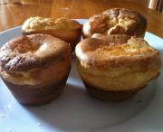 Whole Wheat Popovers With Skim Milk And Honey