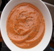 Smokin' Hot Raw Tomato Soup