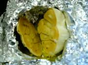 Solar Cooked Roasted Garlic