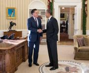 Obama Romney had a luncheon at White House on Thursday