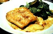 Cheese-Baked Halibut