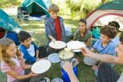 Camp food being enjoyed by kids