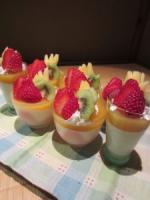 Mango Jelly and Milk Bavarois Parfait