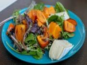 Roasted Persimmon & Brie Salad