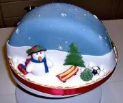 A yummy and well decorated Christmas cake