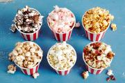 Different flavors of popcorn