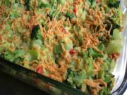 Vegan Creamy Cheesy Broccoli Rice Casserole
