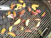 Grilling Peaches at Farmers' Market
