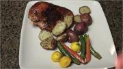 Grilled Chicken with Apricot Brandy Glaze