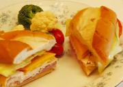 Homemade Country-Style Ham/Chicken/Cheese Hoagie