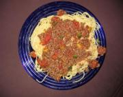 Spaghetti With Spicy Italian Meat Sauce