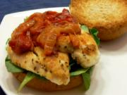 Chef Paul's Roasted Red Pepper & Chicken Sandwich
