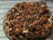 Cajun Seafood Pizza Cooked on the Scottsdale over a Peach Wood Fire