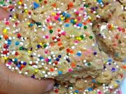 Birthday Cake Mix Rice Krispy Treats