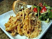 Cheesy Chicken Spaghetti in Crockpot