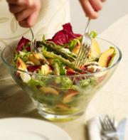 Nectarine, Asparagus and Blue Cheese Salad