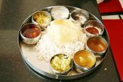 Typical South Indian Cuisine Meal Spread