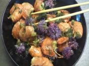 Sweet Prawns with Fennel and Chives Flowers