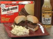Mushroom-Onion Steak-umm Burgers