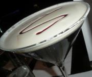 Sweet and frothy amaretto martini.