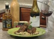Lamb au Poivre with Spring Pea Orzo