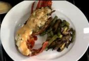 Christmas Special Lobster Stuffed with Crab Cakes