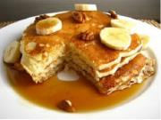 Use over ripe bananas to make yummy banana pancake!
