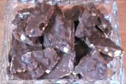Dark Chocolate Bark with Apricot and Walnut