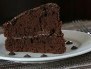 Chocolate Custard Devil's Food Cake
