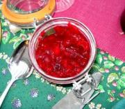 Cranberry sauce is popular during Thanksgiving