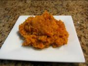 Mashed Sweet Potatoes with Applesauce