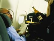 Serving booze on airlines.