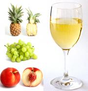 Grapes Pineapple And Peaches In White Grape Juice