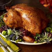 The thanksgiving roasted turkey