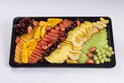 Since each fruit behaves differently on chopping, separate them during storage and mix them just before consumption