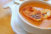 Delicious and healthy tomato crab soup