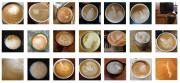 Various types of lattes