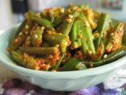 Okra curry is a tasty Indian speciality