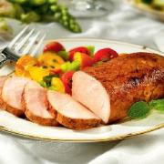 Roasted pork tenderloin tastes great with soups